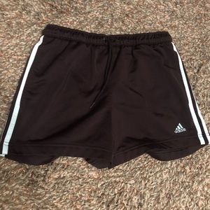 Black/Baby Blue Adidas Shorts